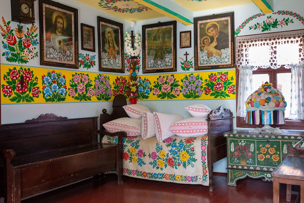 Zalipie, malowane wnętrza