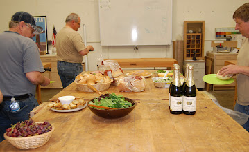 Photo: The Woodworker's Club put out a nice spread as a thank you to MCW for all their help with the move.