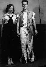 Photo: Milly Blanton (Hopkins) and Richard Spotswood Robertson (Spot) at a Shipwreck Ball (about 1952)