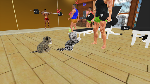 Kitten Cat Vs Six Pack Fitness Master in Gym screenshot 20