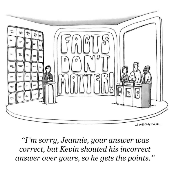 """""""I'm sorry, Jeanne, your answer was correct, but Kevin shouted his incorrect answer over yours, so he gets the points."""""""