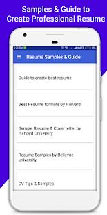 screenshot image - Guide To Create Resume
