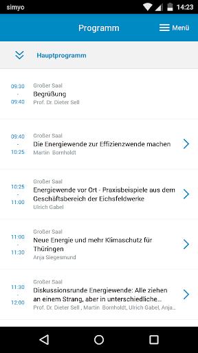 Event-App ThEGA-Forum 2015