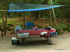 Photo: Nice set up for camping at Lake St. Catherine State Park by Matt Parsons