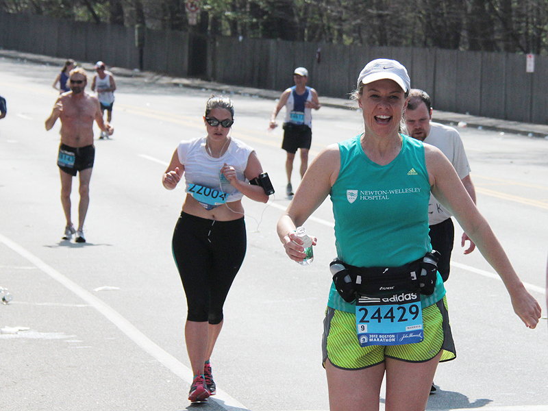 Photo: Mix 104.1's Sue Brady ran to raise funds for Newton-Wellesley Hospital. She and her teammates - part of Team Brooke - raised more than $10,000 for the Vernon Cancer Center in honor of their friend Brooke who is battling cancer.