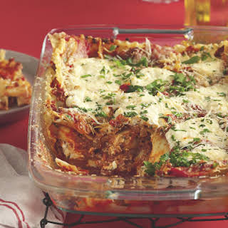 Lasagna Bolognese with Ricotta.