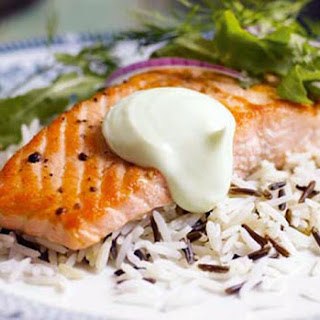 Salt and Pepper Salmon with Wasabi Mayonnaise