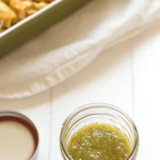 Homemade Tomatillo Salsa Verde.
