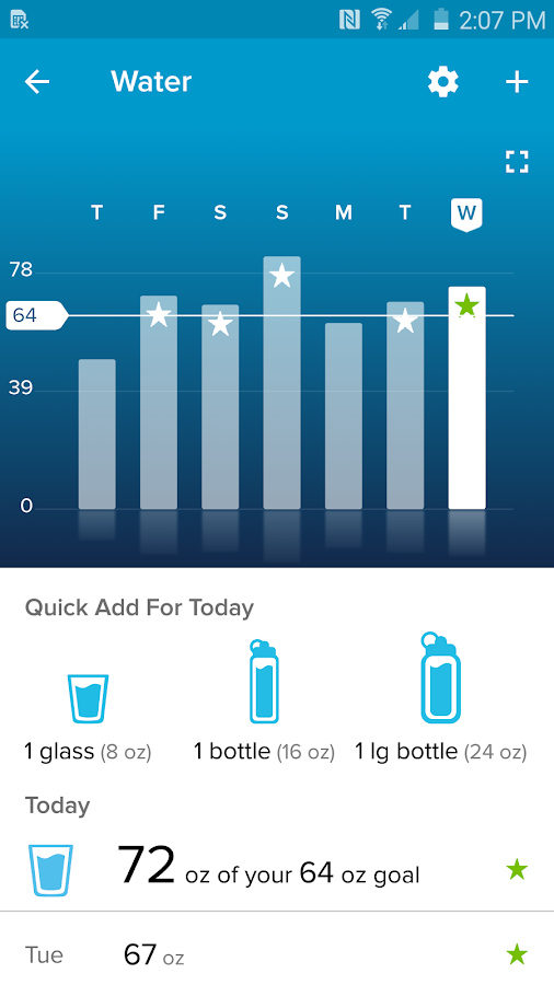 Screenshots of Fitbit for iPhone