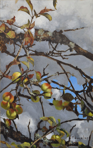 Glace aux pommes. oil on canvas, 50x75cm