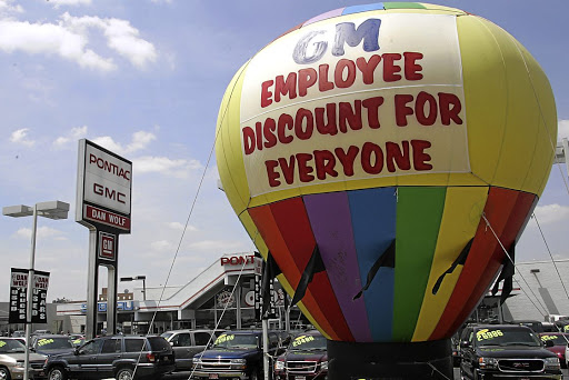 Balloon payments can put an unaffordable vehicle within your reach but the cost is high. Car dealerships like this one in the US town of LaGrange, Illinois, often fail to point out the pitfalls. Picture: GETTY IMAGES