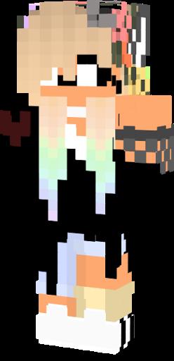 Cute Herobrine Wolf Girl Nova Skin