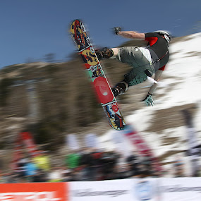jump with a snowboard by Dominik Konjedic - Sports & Fitness Snow Sports