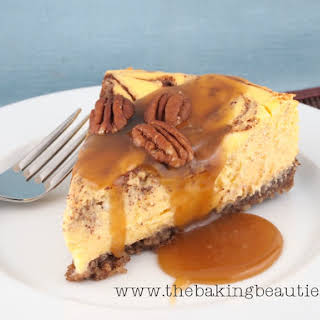 Gluten-free Cinnamon Bun Cheesecake.