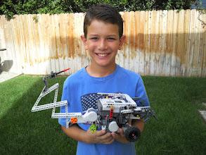 Photo: Josiah and his robotic creation