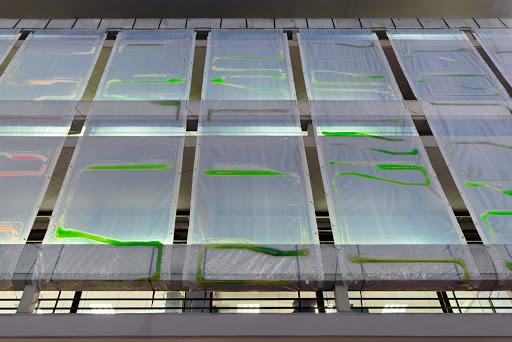 These algae curtains combat air pollution in urban environments
