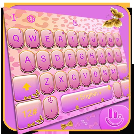Pink Leopard Keyboard Theme