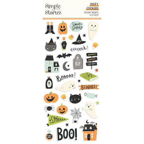 Simple Stories Puffy Stickers - Spooky Nights