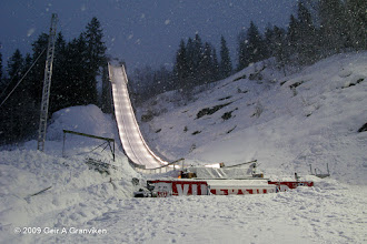 Photo: The inrun of Vikersund ski flying hill, taken during World Cup 2009