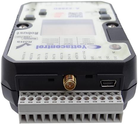 PLC med 4DI/4AI, 4 transistorutgångar, SD-kort, 10-30VDC