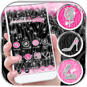 Diva Hot Pink Zebra Launcher Theme