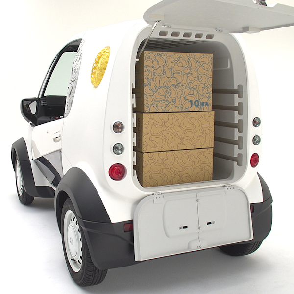 Cargo area of Micro Commuter delivery vehicle