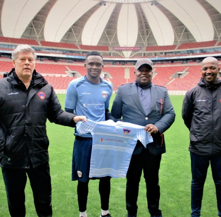 Luyolo Nomandela, who has signed a two year contract with the Club.