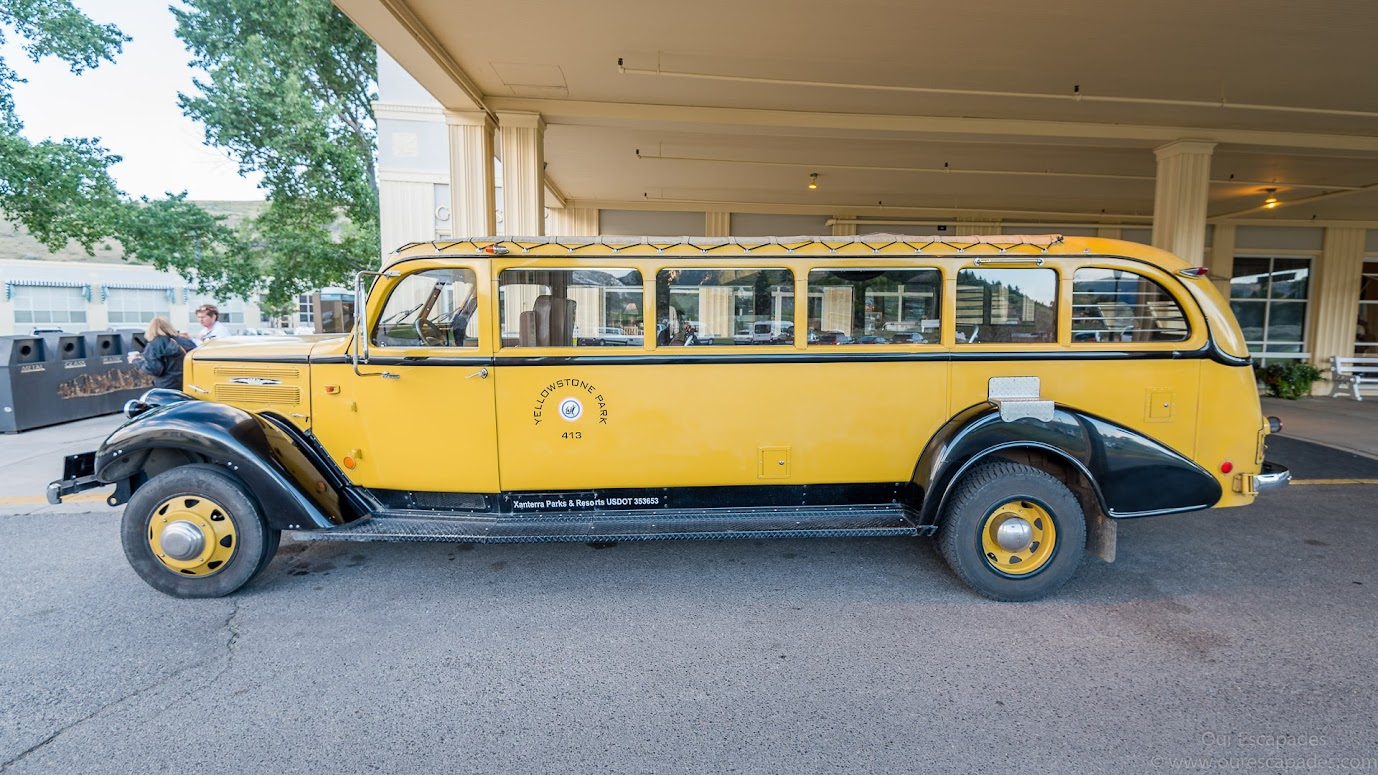 The historic yellow bus