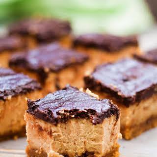 Gluten Free Peanut Butter Cheesecake Bars.