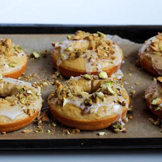 Lemon Pistachio Protein Donuts.