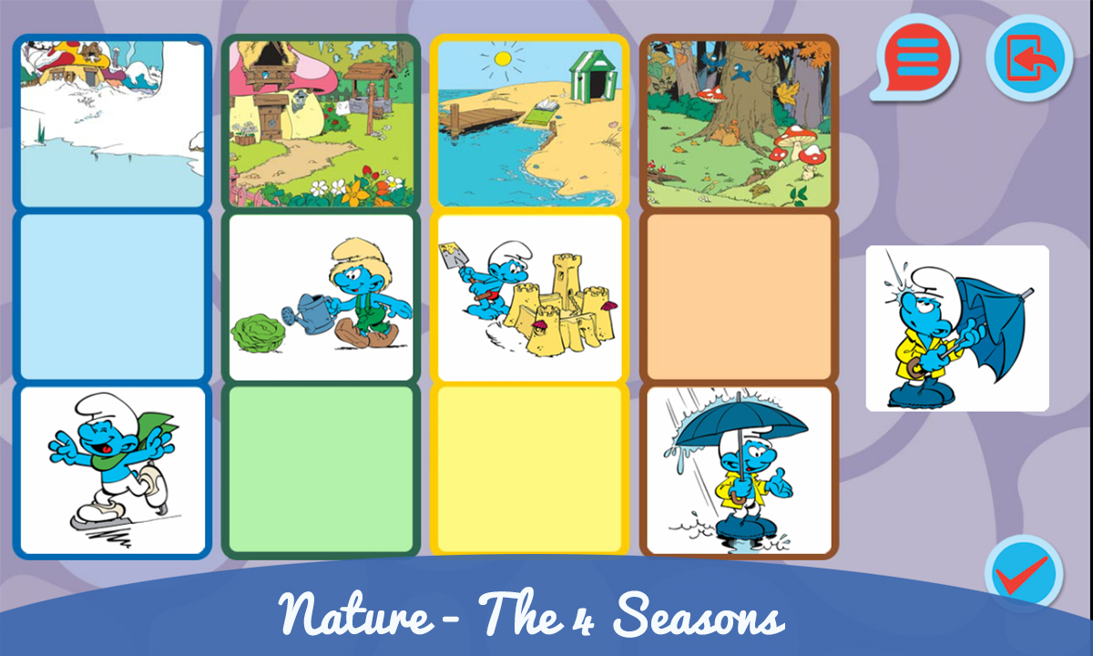 Smurfs and the four seasons- screenshot
