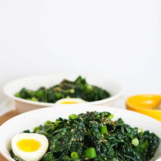 Miso Tahini Warm Kale Salad