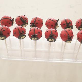 Ladybug Cake Pops.