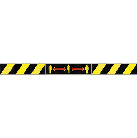 Etikett sva/gul pictogram 15/f
