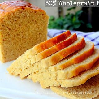 50% Wholegrain Bread.