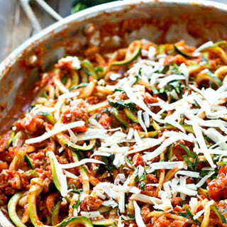 30-Minute Turkey Bolgonese Zucchini Noodles