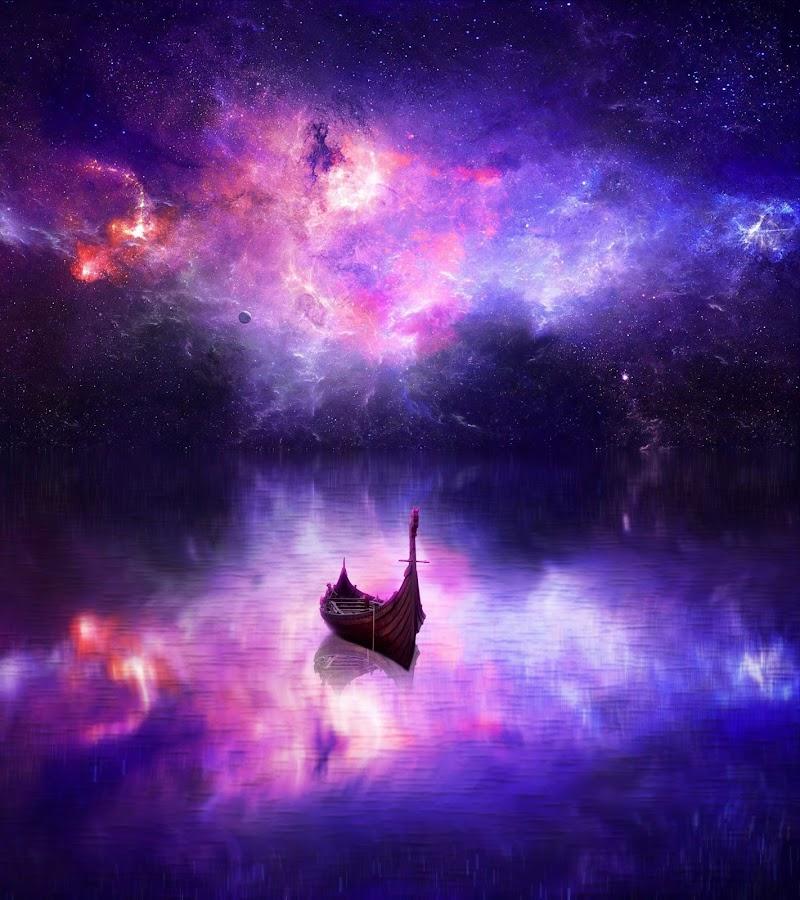 River Fantasy Scene by Muhammad Abi - Illustration Sci Fi & Fantasy