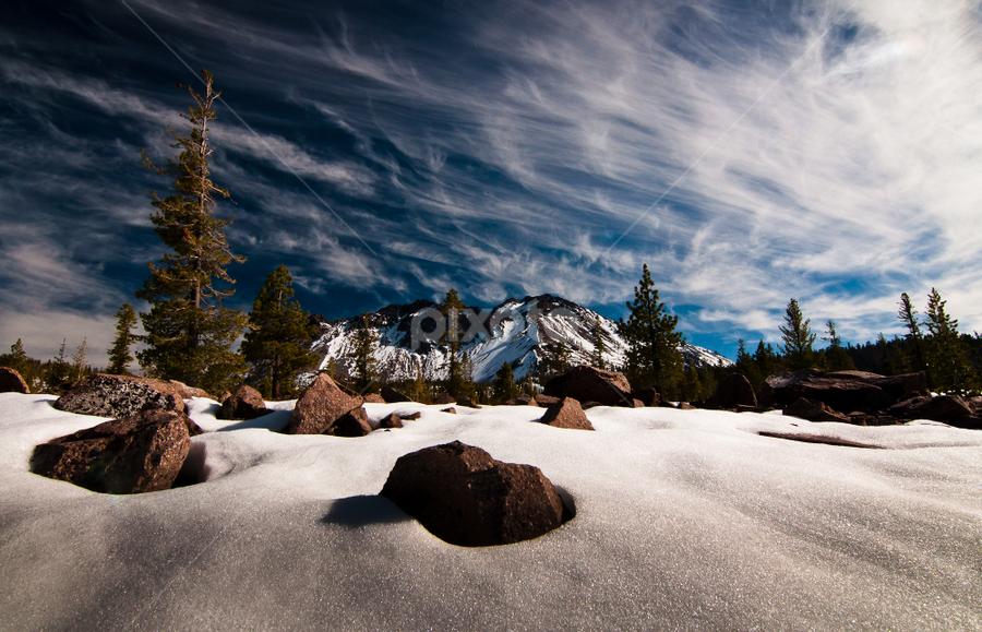 Lassen by Michael Keel - Landscapes Mountains & Hills ( snow mountains, northern california, lassen )
