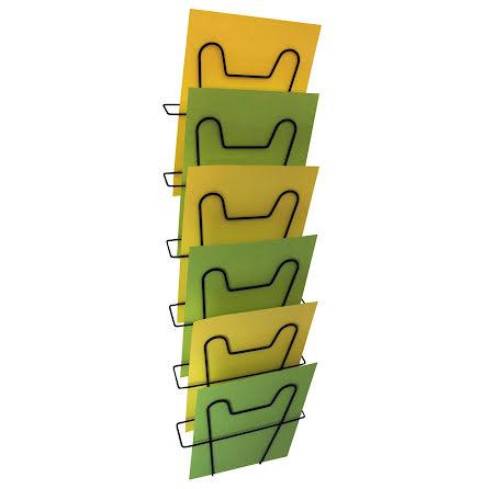Broschyrställ tråd 6fack svart