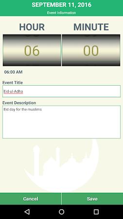 Islamic Calendar & Prayer Time 1.8 screenshot 2081432
