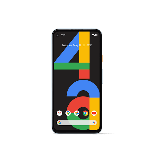 Front-facing shot of Pixel 4a