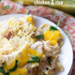 Chicken Bacon and Ranch Rice Casserole.