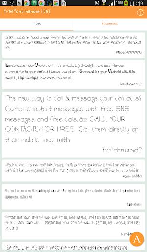 FreeFont - Handwrite 3