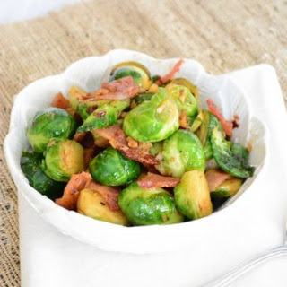 Sweet and Spicy Brussel Sprouts...with bacon (of course)