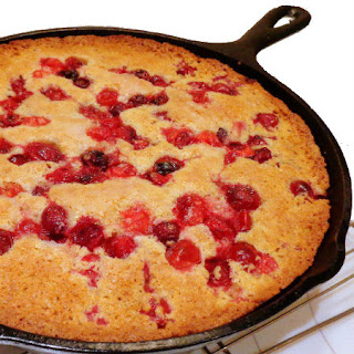 Cranberry-Cormeal Skillet Cake