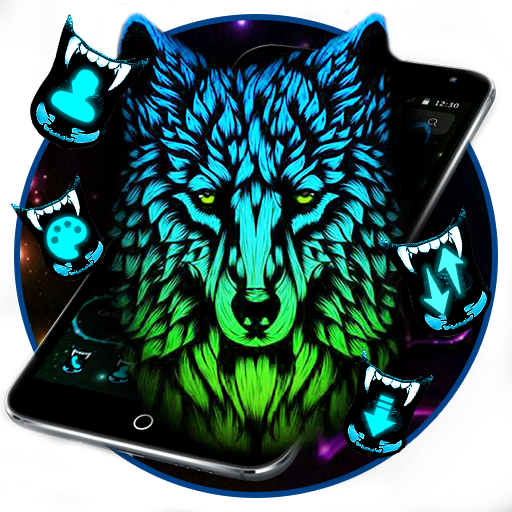 Blue Dark Wild Wolf Theme