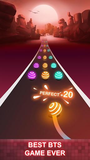 BTS Road Tiles: KPOP Colour Ball Dancing Road Run! Apk 2