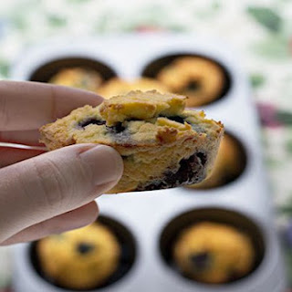 Low Carb & Gluten Free Blueberry Muffins.