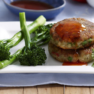Green Curry Salmon Cakes.
