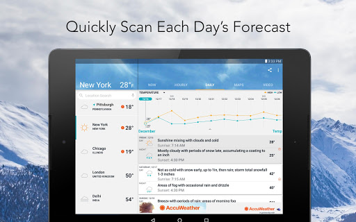 AccuWeather: Local Weather Forecast & Live Alerts screenshot 14
